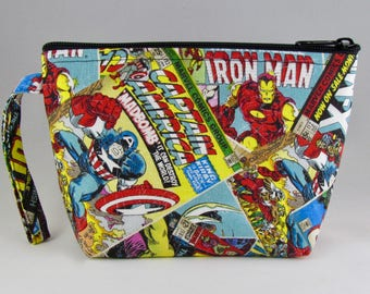 Marvel Comics Makeup Bag - Accessory - Cosmetic Bag - Pouch - Toiletry Bag - Gift