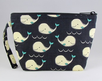 Whales Makeup Bag - Accessory - Cosmetic Bag - Pouch - Toiletry Bag - Gift