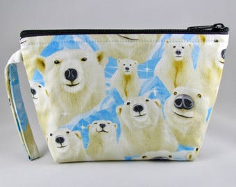 Polar Bears Makeup Bag - Accessory - Cosmetic Bag - Pouch - Toiletry Bag - Gift