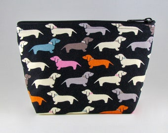 Wiener Dogs Makeup Bag - Accessory - Cosmetic Bag - Pouch - Toiletry Bag - Gift