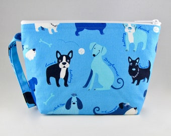 Blue Dog Breeds Makeup Bag - Accessory - Cosmetic Bag - Pouch - Toiletry Bag - Gift