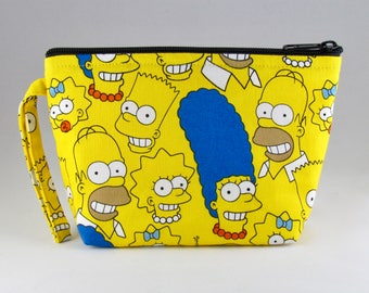 The Simpson Family Makeup Bag - Accessory - Cosmetic Bag - Pouch - Toiletry Bag - Gift