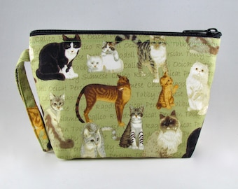 Donation Bag - Save the Cats Makeup Bag - Accessory - Cosmetic Bag - Pouch - Toiletry Bag - Gift