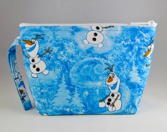 Olaf Makeup Bag - Disney Frozen - Accessory - Cosmetic Bag - Pouch - Toiletry Bag - Gift