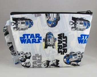 R2D2 Star Wars Makeup Bag - Accessory - Cosmetic Bag - Pouch - Toiletry Bag - Gift