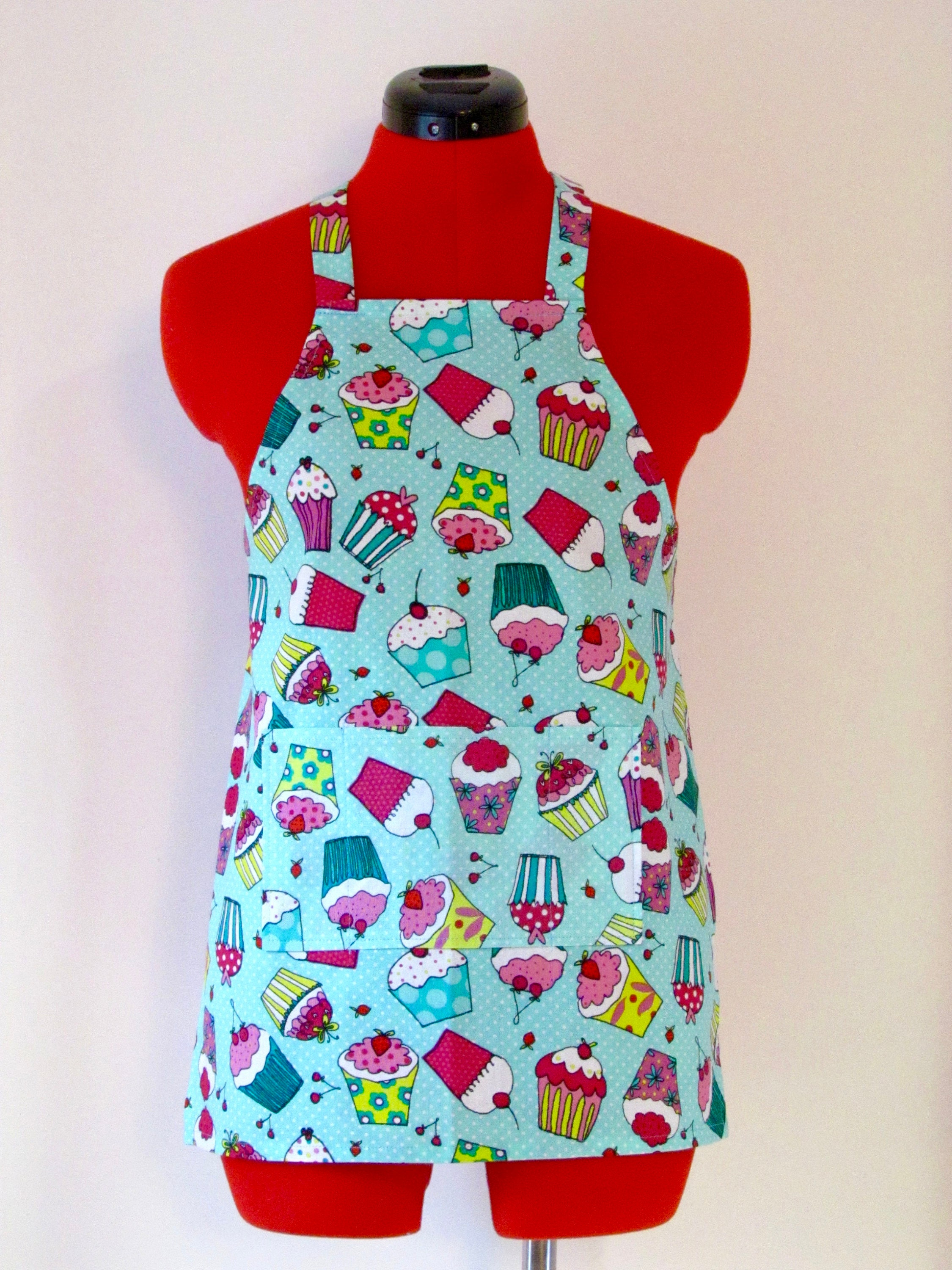 Kids Apron Copious Cupcakes Childrens Apron Childs Apron | Etsy