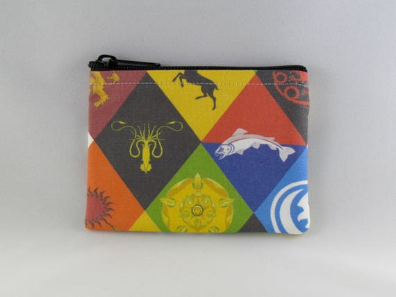 Game Of Thron-es Zipper Coin Purse Canvas Wallet Bag Change Purse Pouch Key Holder With Strap