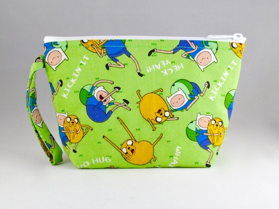 Adventure Time Makeup Bag - Accessory - Cosmetic Bag - Pouch - Toiletry Bag  - Gift
