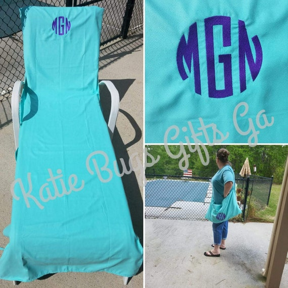 Incredible Lounge Chair Cover Beach Chair Cover Monogrammed Personalized Beach Towel Chase Lounge Cover Alphanode Cool Chair Designs And Ideas Alphanodeonline