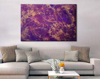 Resin art paintings prints and ecopoxy products by halfbakedart bohemian decor extra large wall art oversize abstract canvas print epoxy resin art purple and gold office decor diy stretching kit solutioingenieria