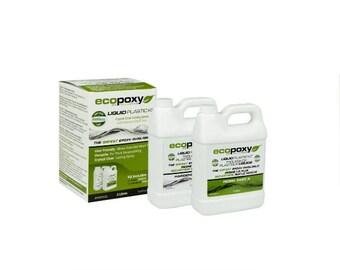 EcoPoxy Liquid Plastic 2 Lt, Encapsulating, Casting Epoxy, Molding, Safest Greenest, Eco-friendly, Casting Resin, Epoxy Resin
