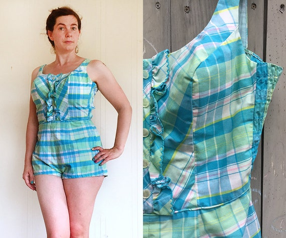 Vintage swimsuit | 1950s 60s Robby Len bathing sui