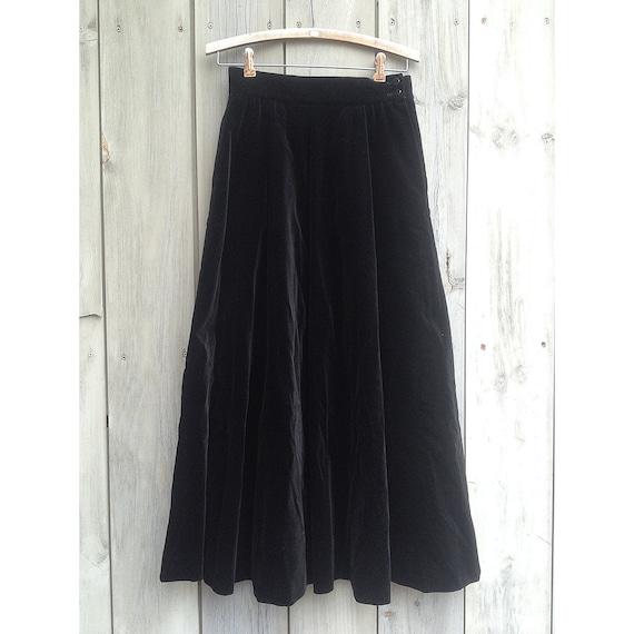 Vintage skirt | Black velvet skirt, Jaeger skirt,