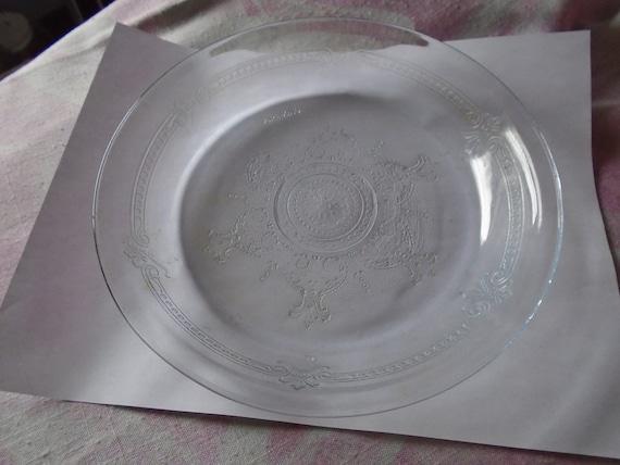 Vintage Pie Plate Platter Plate Fireking Blue Sapphire 5 AVAILABLE
