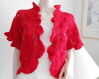 Red Lace Cardigan/Jacket