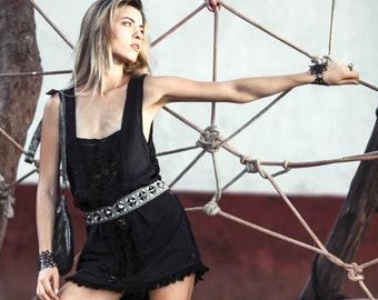 Little Black Dress, Black Boho Dress, Psy Clothing