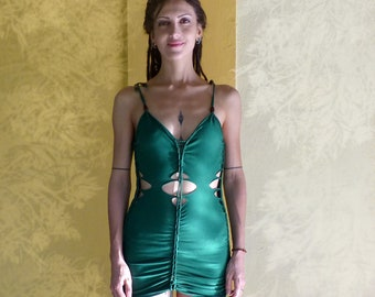 Green Dress, Festival Clothing, Burning Man Clothing Women, Dresses For Women, Gift For Her, Gypsy Dress, Bohemian Dress, Unique Dress