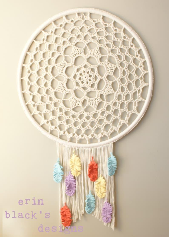 Dream a Little Dream Wall Hanging crochet pattern DIY Crochet PATTERN boho dream catcher : dreamcatcher 2014023 wall hanging macrame
