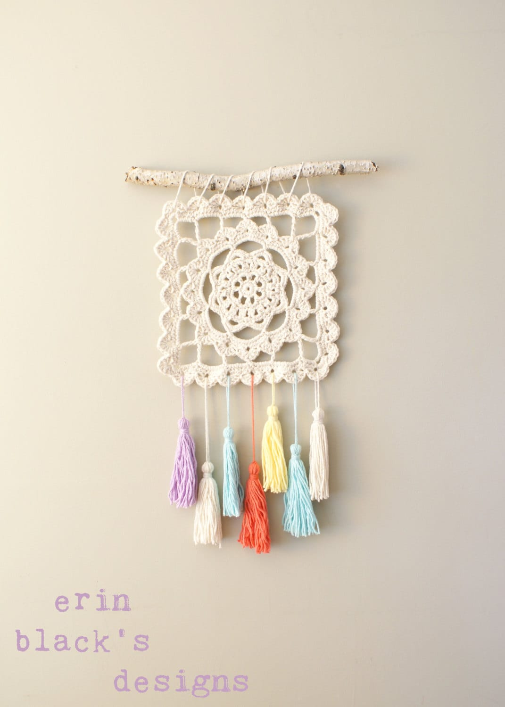 Diy Crochet Pattern Dreaming Of Granny Wall Hanging Etsy