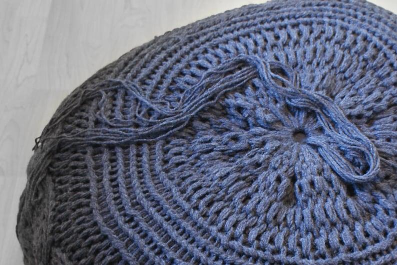 DIY Knitting PATTERN Chunky Cable Knit Pouf 2012009:   Etsy