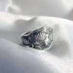 LAYAWAY Payment 1 of 2 for Claire Pinecone Sterling Spoon Ring  Nature Jewelry Symbolic of Enlightenment