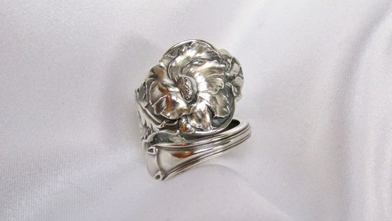 Rare Beauty Mallow Flower Symbolic Of Healing Sterling Silver Etsy
