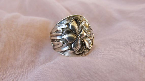 Daffodil Spoon Ring Sterling Silver Art Nouveau Symbolic Of Etsy