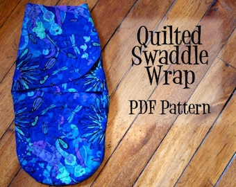 Quilted  Baby Swaddle Wrap PDF Pattern - Instant Download, Swaddle Sack, swaddle wrap