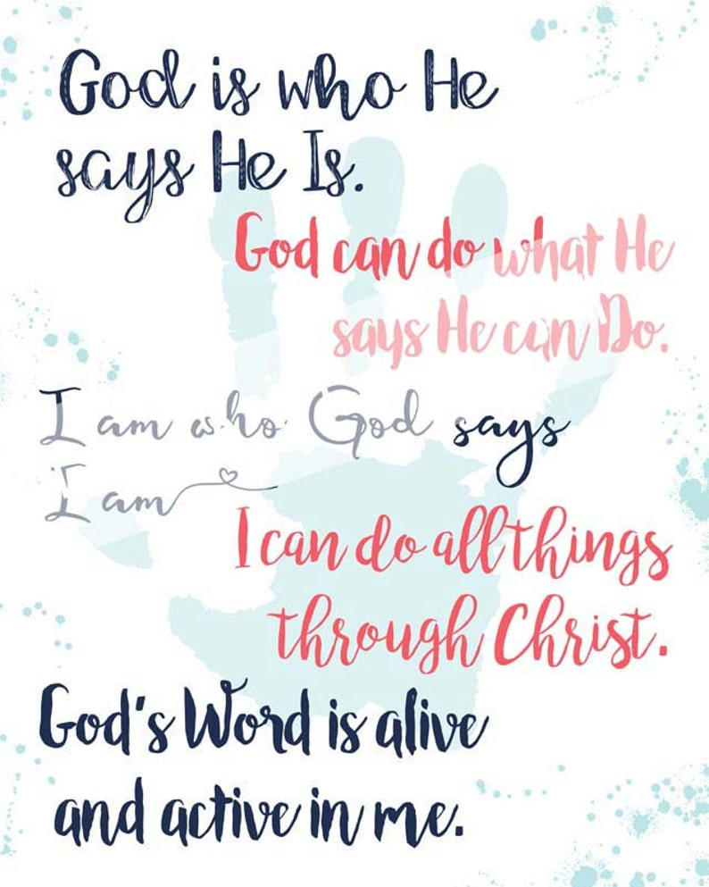 Five Faith Statements Printable, Believing God Beth Moore Quote, Instant  Download, I can do all things through Christ