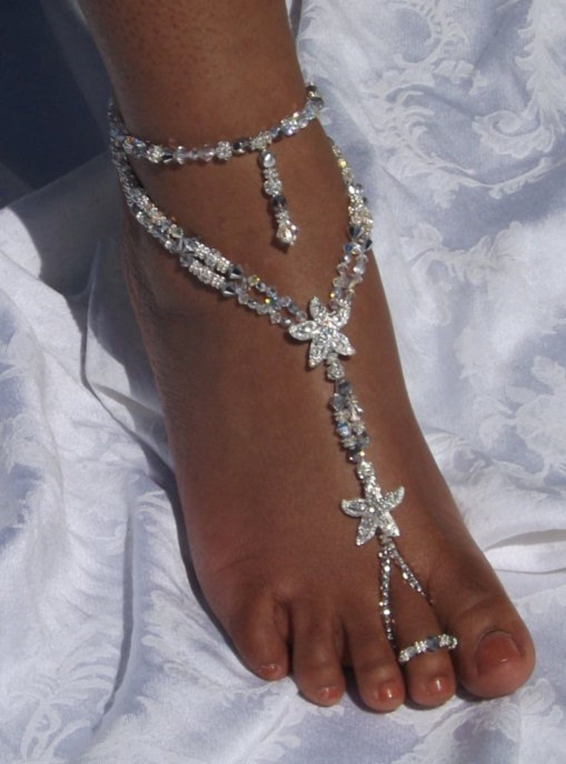 385c9f3edfb Barefoot Sandals Foot Jewelry Beach Wedding Barefoot Sandals