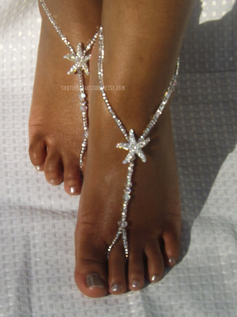 b56fabad5eb Starfish Barefoot Sandals Beach Wedding Foot Jewelry Beach