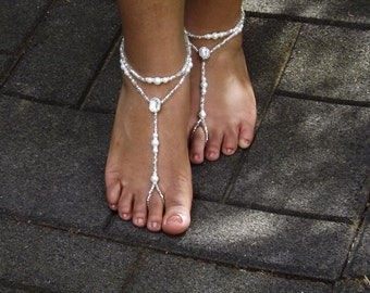 Barefoot Sandals Bridal Barefoot Sandals Wedding Foot Jewelry Beach Wedding Barefoot Sandals Bridal Foot Jewelry