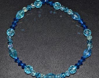 Ombre Blue Swarovski Stretch bracelet