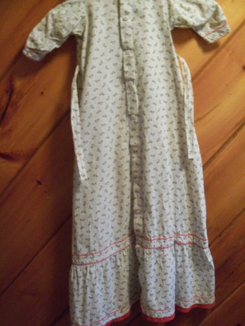 FREE SHIPPING Vintage Infant Girls Calico Dress