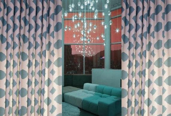 magasin large vente rideaux sur mesure fait designer drape de etsy. Black Bedroom Furniture Sets. Home Design Ideas