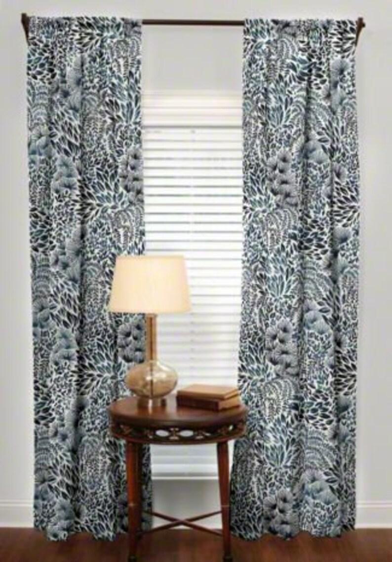 Sale Custom Made Drapes From small window curtains through 2 story extra long drapes Choose your length Robert Allen Hanabi burst fabric