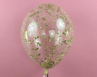 Ballon de confettis métallique or - 11 16 24 36 pouces taille - Noël New Years Eve fête bachelorette anniversaire nuptiales de douche de mariage