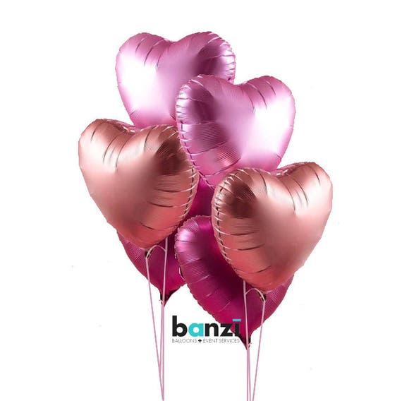 Air Fill balloons Valentine/'s Day Vday Galentine/'s Day 5 inch mini heart latex balloons pink white red confetti
