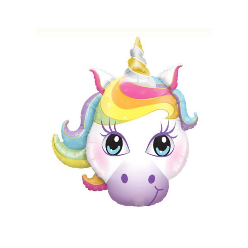 Pastel Unicorn jumbo mylar balloon party decorations birthday rainbow magical