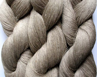 Linen Yarn Natural gray 400 gr (14.1 oz ), Cobweb / 1 ply, each skein contains approximately 4000 yds