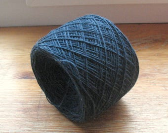 Cotton Yarn Dark Blue 49 gr (1.72 oz ), Cobweb / 2 ply, each ball contains approximately 420 yds