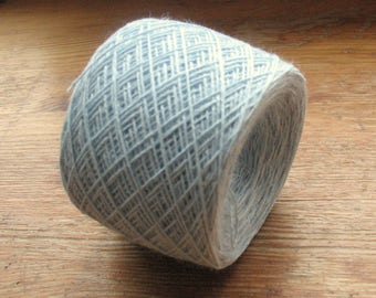 Cotton Yarn Azure Blue 105 gr (3.7 oz ), Cobweb / 2 ply, each ball contains approximately 800 yds