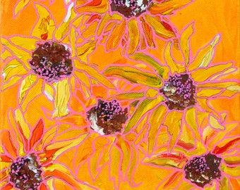 Fading Sunflowers Art Print