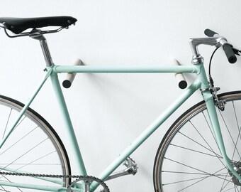wooden bike rack // OAK WOOD // BLACK