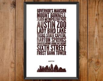 Austin City Print