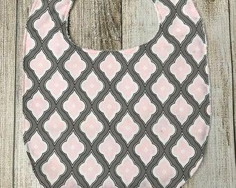 Pink/Gray Bib