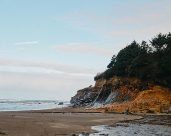 Oregon Wall Art   Oregon Coast Beach Matte Photography Print, Canvas Print or Hanging Canvas with Magnetic Bar