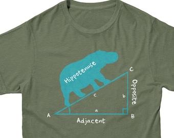 Hippotenuse Math T Shirt | Funny Math T-shirt | Nerdy T-shirt | Geeky T-shirt | Math Teacher gift