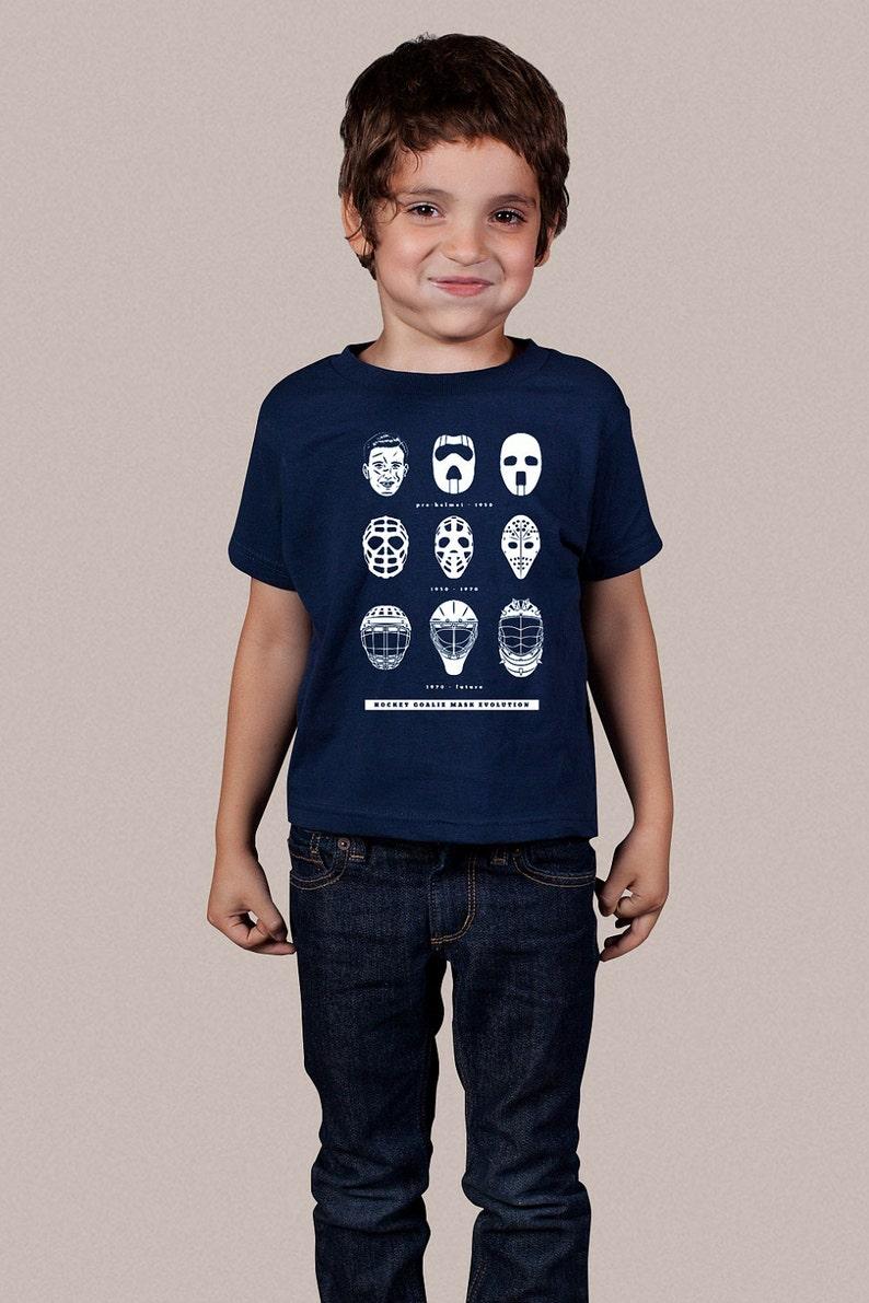 948d722c20e Hockey Goalie Mask Evolution Kids T-shirt Fun Hockey