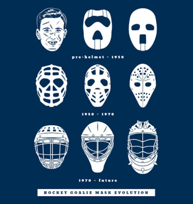 Goalie Mask Evolution Hockey T Shirt Ice Hockey Goal Tender Etsy